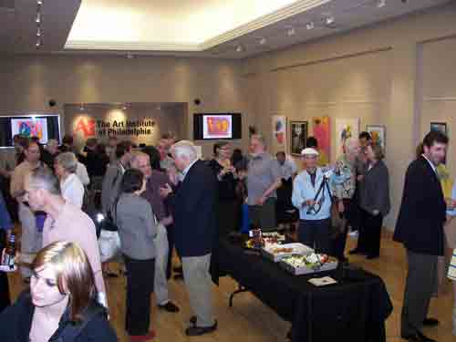 Art opening celebrating the career of Sam Maitin @ The Art Institute of Philadephia Gallery.