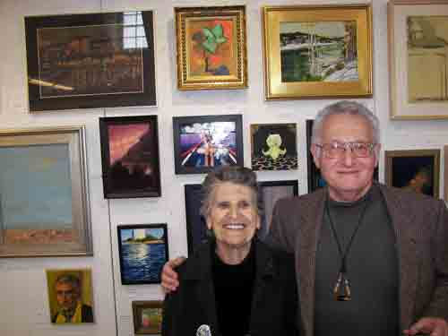 Mr. and Mrs. Arthur Ostroff (Arthur's entry is upper left) @ PSC opening.