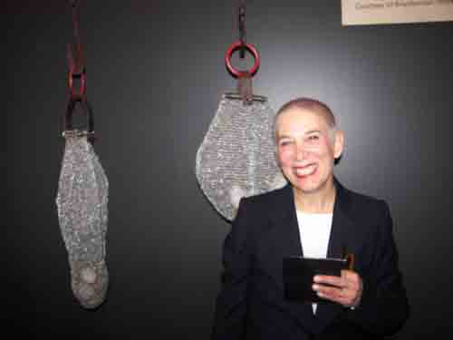 Ruth Borgenicht with the installation at The Crane Arts Center.