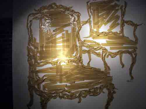 Mark Khaisman's Untitled - 2 chairs, packing tape @ Photo West Gallery.