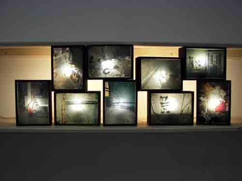 Wall Photo Light Box : Crane Arts, CFEVA@PhotoWest, 10th St. Laundromat & The Beauty Shop DoNArTNeWs