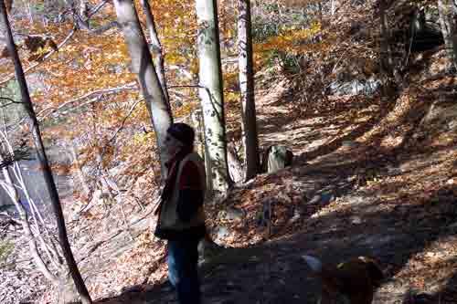 Larry Angel & Doofie on the trail.