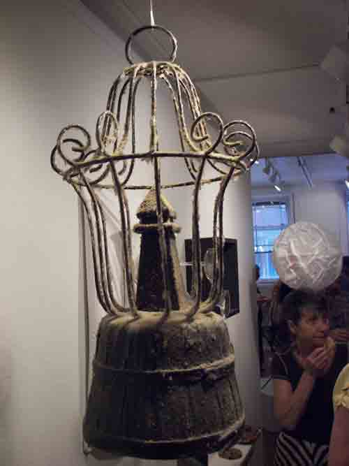 David Foss' dust encrusted bizarro birdcage is so DuChampian, only the passage of time and benign neglect can create such a time/space distortion.