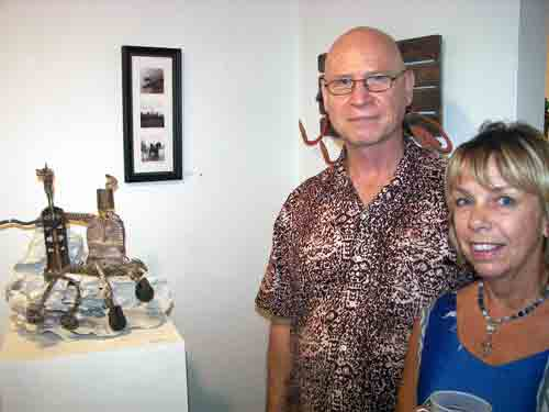 Artists Ted Warchal and award winner Regina Barthmaier