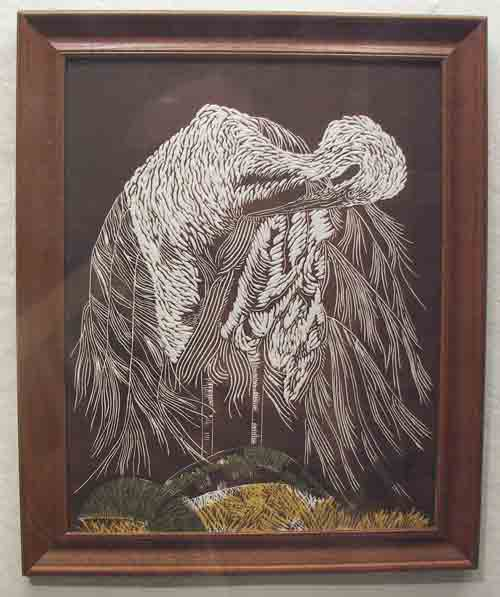 Linoleum block print by Eileen Eckstein @ Likeable Art.