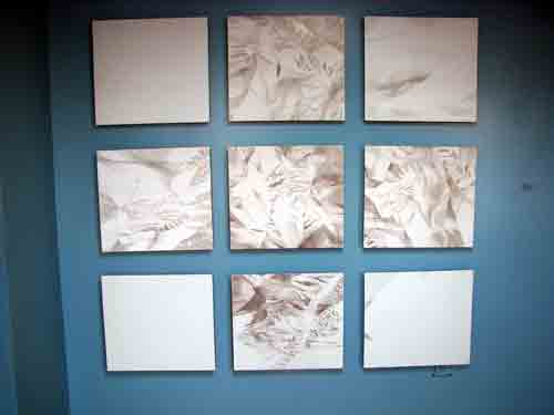"Silver point drawings by Caleb Nussear called ""#3XUL Diminished""."