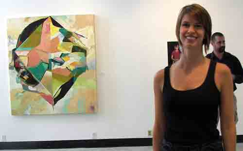 Curator Tara Caton at The Leonard Pearlstein Gallery.