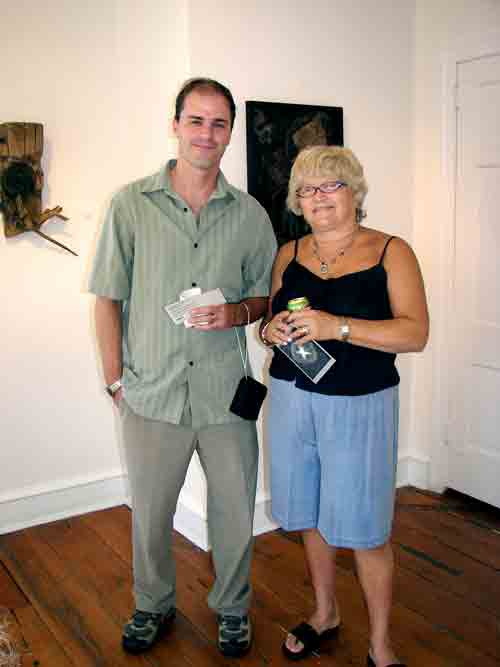 Artists, Mark Donahue and Bobbie Diamond Adams @ Hopkins House Gallery.