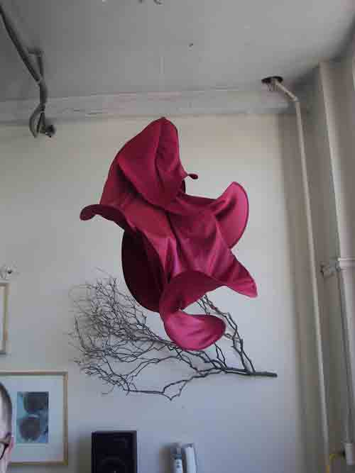 Ana B. Hernandez' flamenco inspired hanging sculpture.