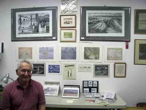 Artist Arthur Ostroff, also of Morris Street Studios.