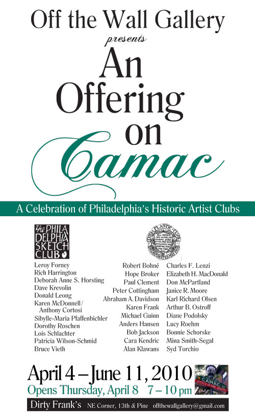 An Offering on Camac @ Off the Wall Gallery in Dirty Frank's Bar