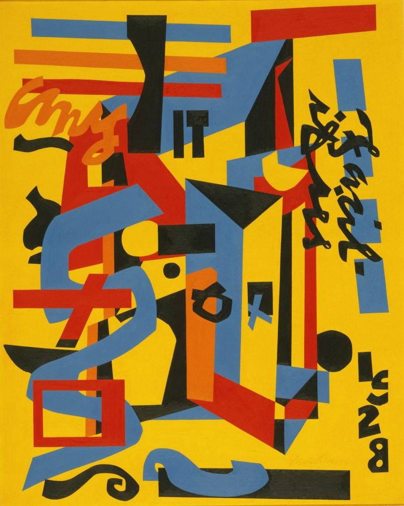 Modern Times, Stuart Davis, Something on the Eight Ball