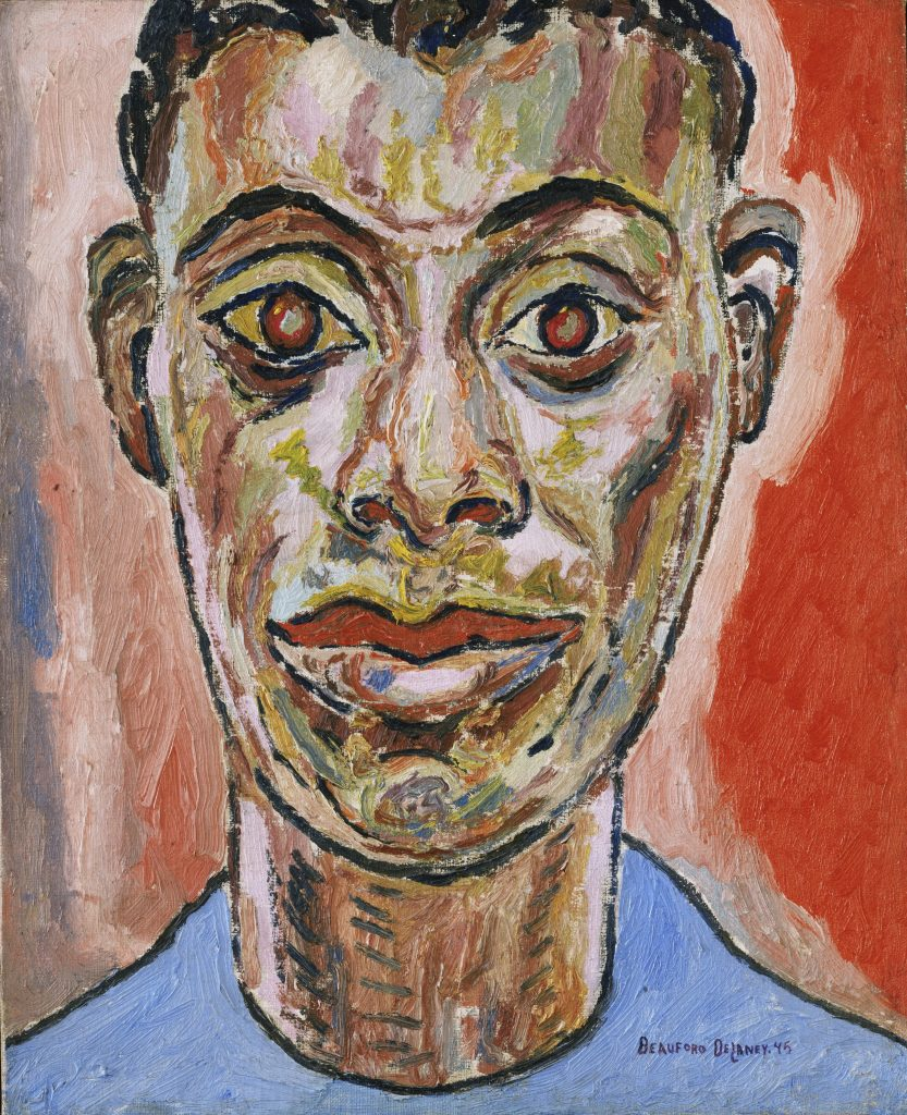 Modern Times, Beauford Delaney, Portrait of James Baldwin