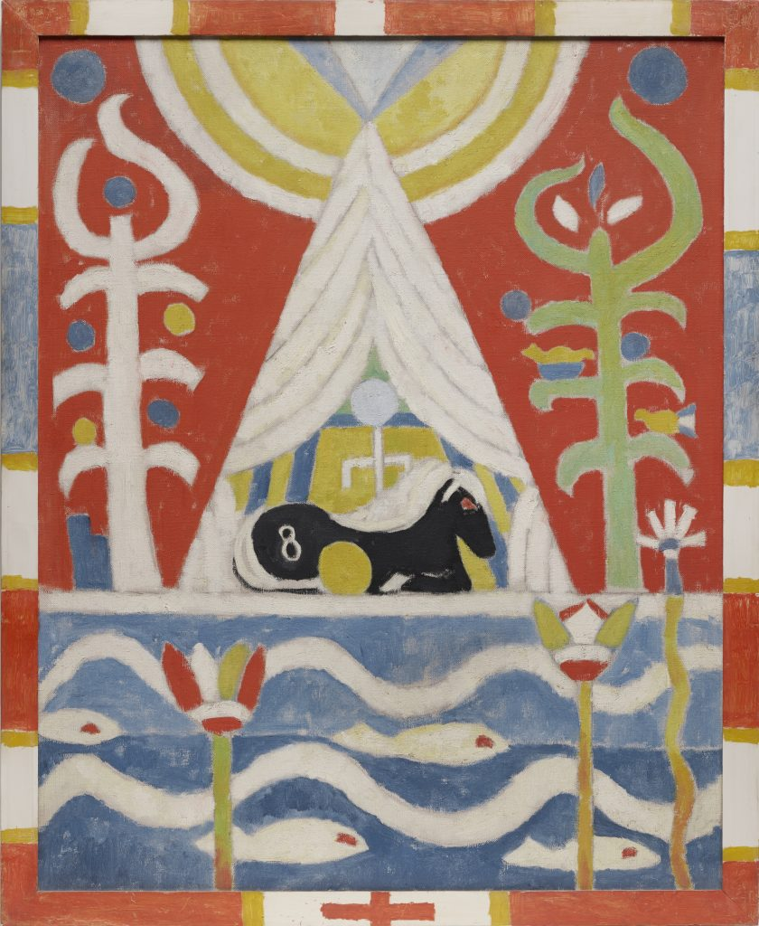 Modern Times, Marsden Hartley, Painting No 4 (Black Horse)