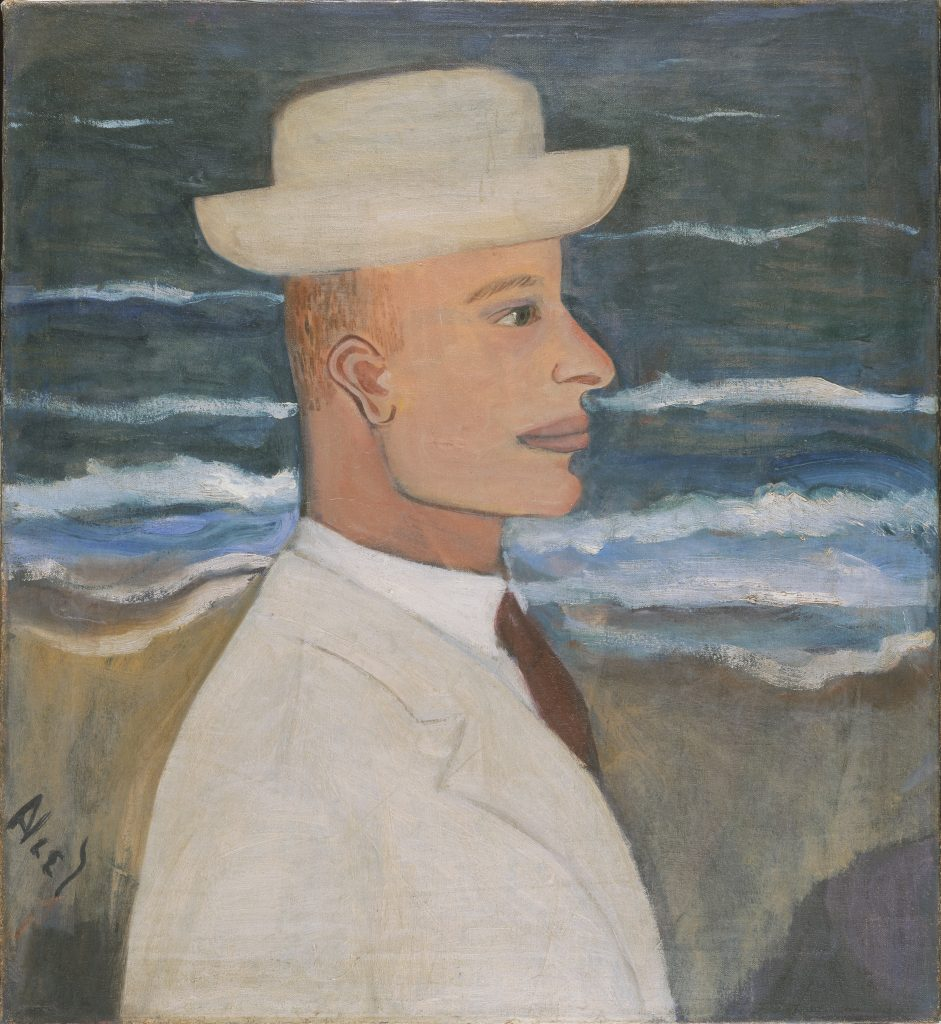 Modern Times, Alice Neel, Portrait of John with Hat