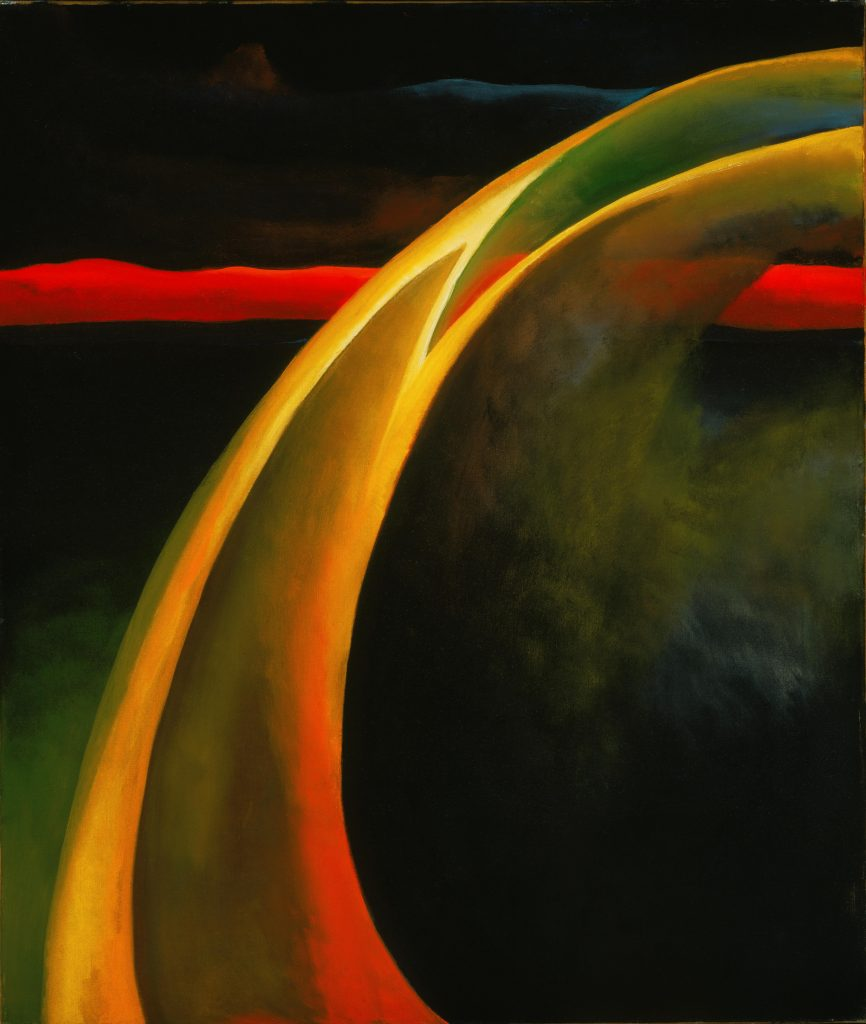 Modern Times, Georgia O'Keeffe, Red and Orange Streak