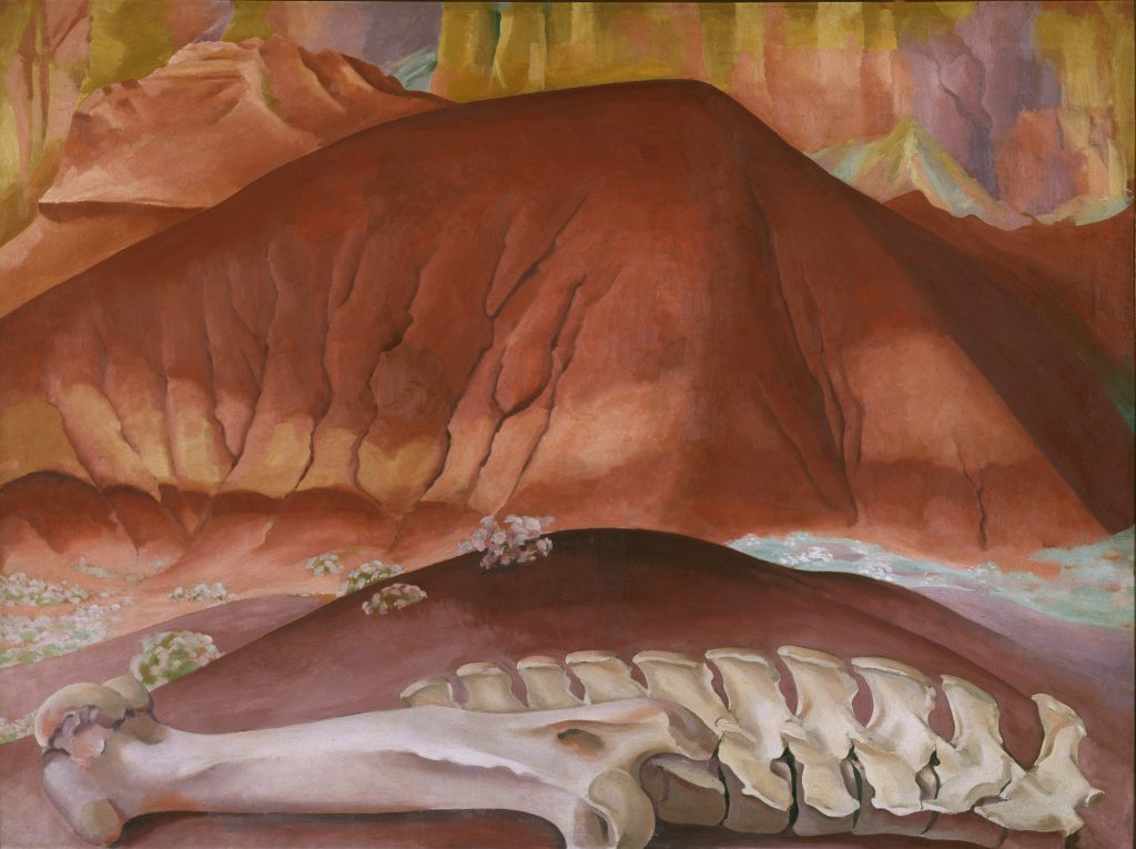 Modern Times, Georgia O'Keeffe, Red Hills and Bones