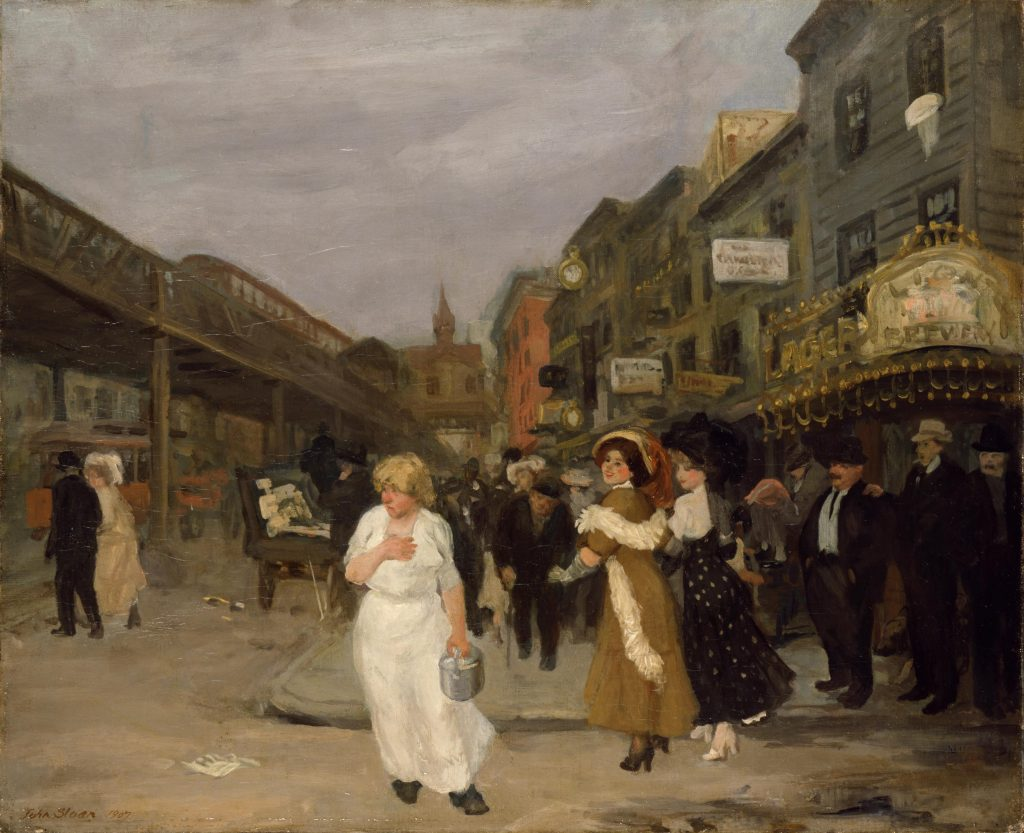 Modern Times, John Sloan, Sixth Avenue and Thirtieth Street