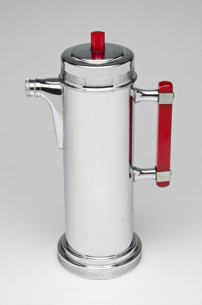 Modern Times, Artist-maker unknown, Cocktail Shaker with Handle